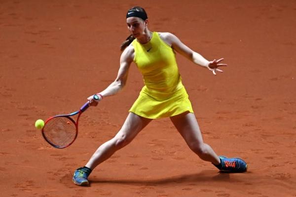Tamara Korpatsch in action ahead of the WTA Budapest Grand Prix.