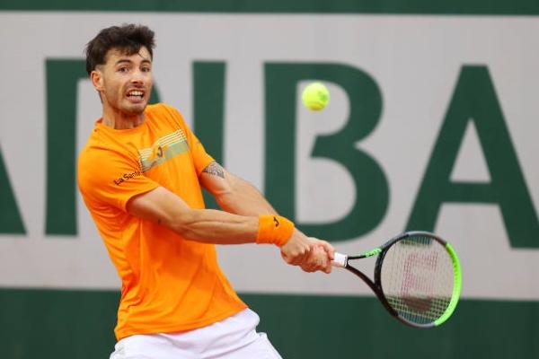 Juan Ignacio Londero in action ahead of the ATP Gstaad Open.