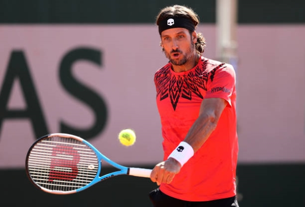 Feliciano Lopez in action ahead of the ATP Gstaad Open.