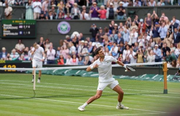 Novak Djokovic Denis Shapovalov Wimbledon