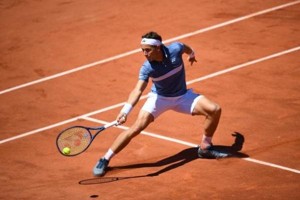 ATP Gstaad finalist Casper Ruud in action.
