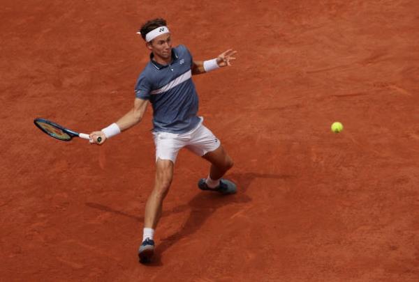 Casper Ruud in action ahead of the ATP Bastad Open.