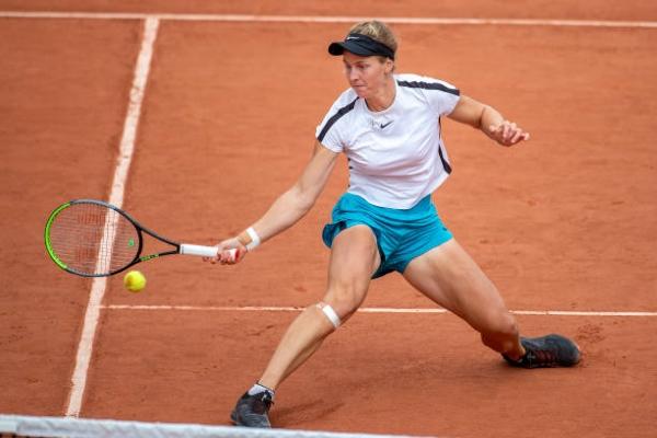 Ludmilla Samsonova in action ahead of the WTA Palermo Open.