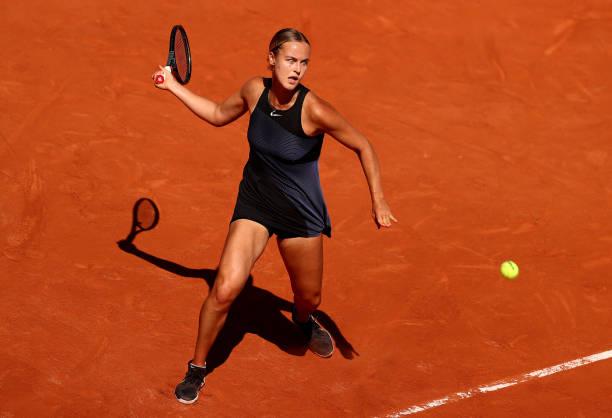 Anna Karolina Schmiedlova in action ahead of the WTA Gdynia Open.