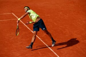 Jiri Vesely in action ahead of the ATP Bastad Open.