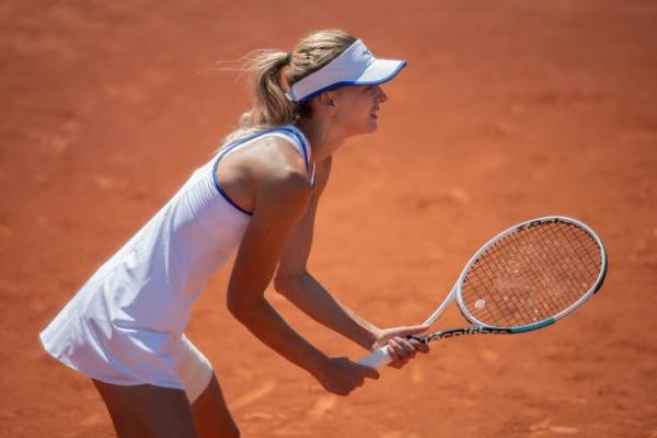 Maryna Zanevska in action ahead of the WTA Gdynia Open.