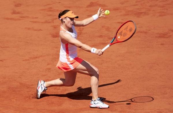 Tamara Zidansek in action ahead of the WTA Lausanne Open,