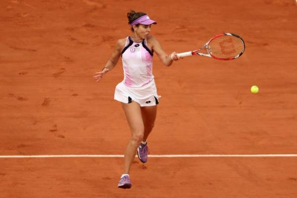 Mihaela Buzarnescu in action ahead of the WTA Cluj Open.
