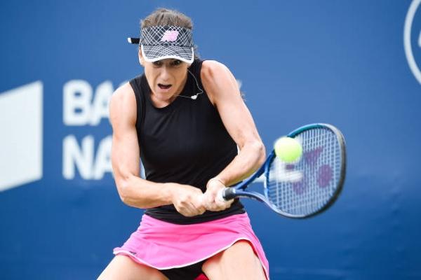 Sorana Cirstea in action at the WTA Montreal Open.