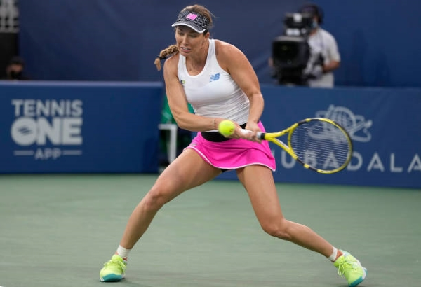 Danielle Collins in action ahead of the WTA Montreal Open.