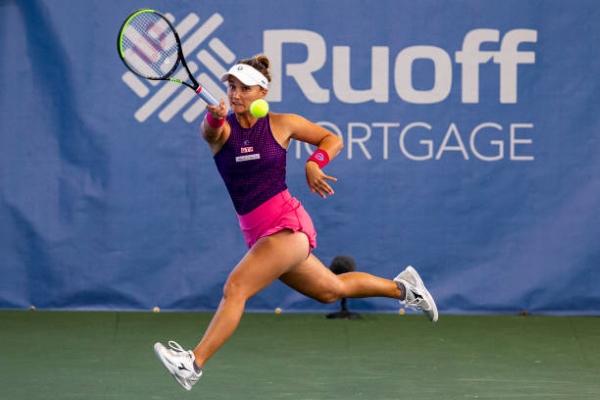 Lauren Davis in action ahead of the US Open.
