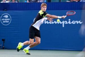 Ilya Ivashka in action at the ATP Winston-Salem Open.