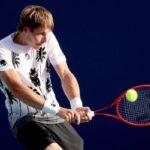 Ilya Ivashka in action ahead of the ATP Washington Open.