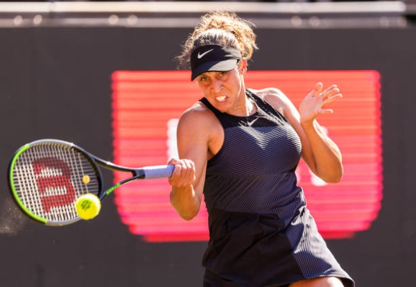 Madison Keys in action ahead of the WTA Montreal Open.