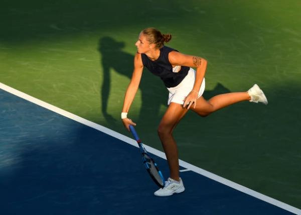 Kristyna Pliskova in action ahead of the US Open.