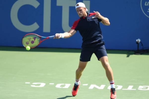Denis Kudla in action at the ATP Washington Open.