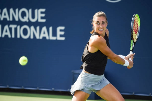Petra Martic in action ahead of the US Open.