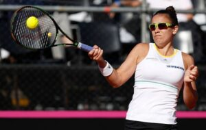 Paula Ormachea in action ahead of the WTA Cluj Open.