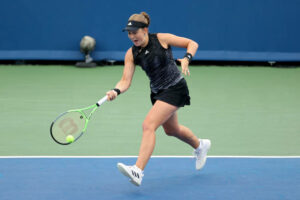 Jelena Ostapenko in action ahead of the US Open.