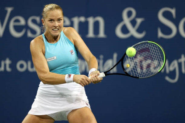 Shelby Rogers in action at the WTA Cincinnati Open.