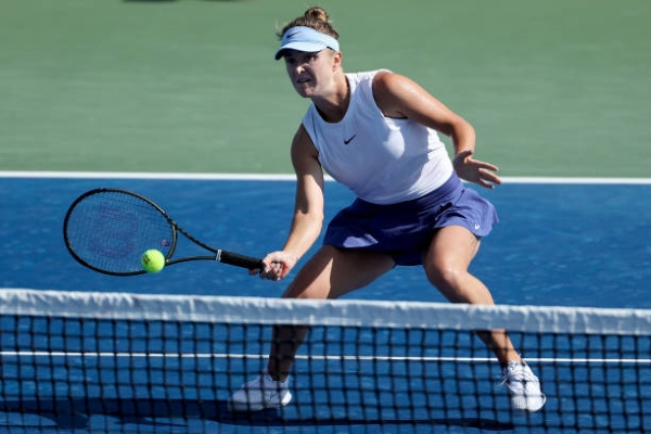 Elina Svitolina in action ahead of the WTA Chicago Open.