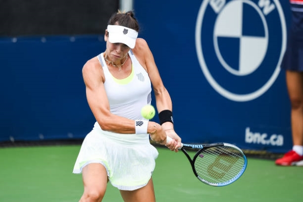 Ajla Tomljanovic in action ahead of the US Open.