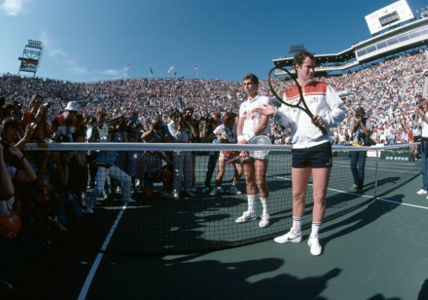 John McEnroe and Ivan Lendl, two of the greatest US Open players.