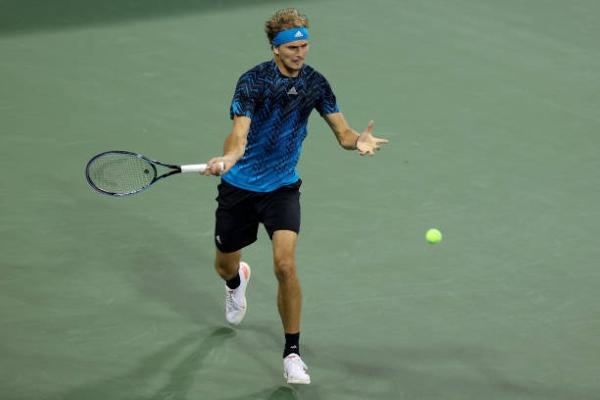 Alexander Zverev in action at the ATP Cincinnati Masters.