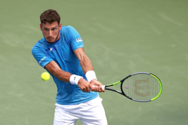 Pablo Carreno Busta in action ahead of the ATP Metz Open.