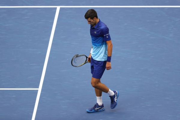 Novak Djokovic saw his quest for the Calendar Slam end in defeat.
