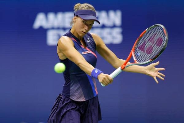 Viktorija Golubic in action ahead of the WTA Chicago Open.