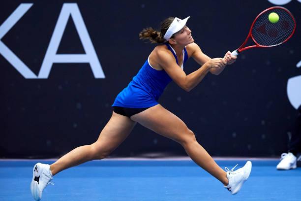 Varvara Gracheva in action ahead of the WTA Astana Open.