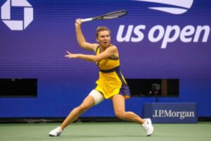 Simona Halep in action at the US Open.