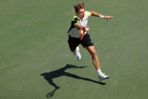 Ilya Ivashka in action ahead of the ATP Sofia Open.