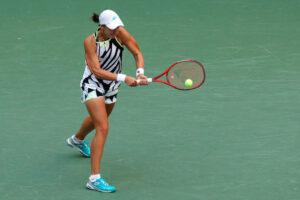 Anhelina Kalinina in action prior to the WTA Portoroz Open.