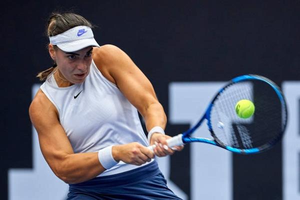 Ana Konjuh in action ahead of the WTA Astana Open.