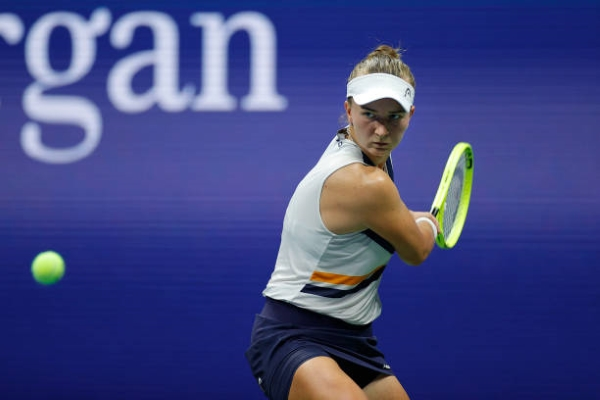 Barbora Krejcikova in action at the US Open.