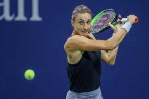 Petra Martic in action ahead of the WTA Portoroz Open.