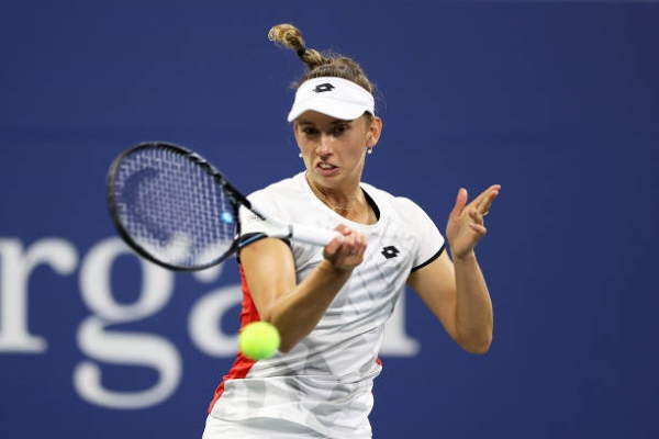 Elise Mertens in action ahead of the WTA Luxembourg Open.