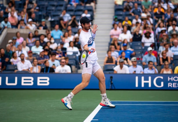 Andy Murray in action at the US Open.