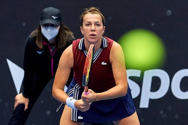Anastasia Pavlyuchenkova in action ahead of the WTA Chicago Classic.
