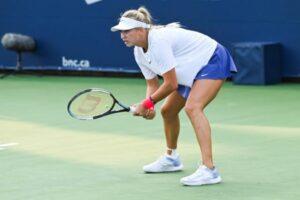 Anastasia Potapova in action ahead of the WTA Luxembourg Open.