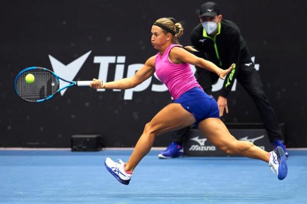 Yulia Putintseva in action ahead of the WTA Astana Open.