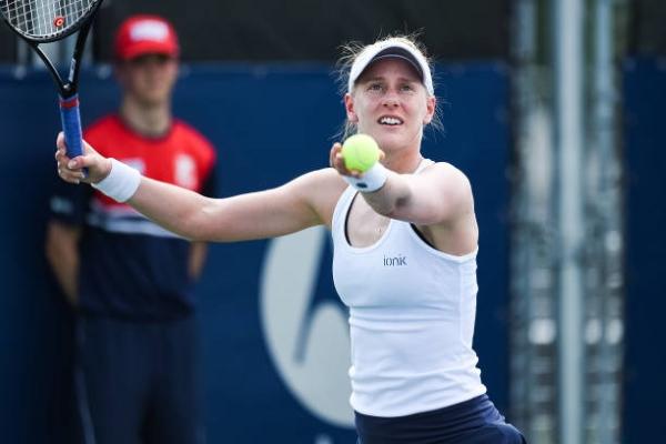 Alison Riske in action ahead of the WTA Portoroz Open.