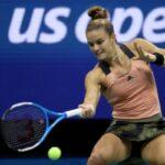 Maria Sakkari in action at the US Open.