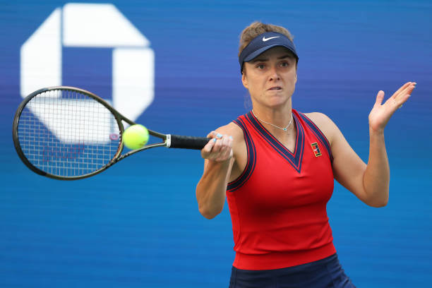 Elina Svitolina in action ahead of the WTA Chicago Classic.