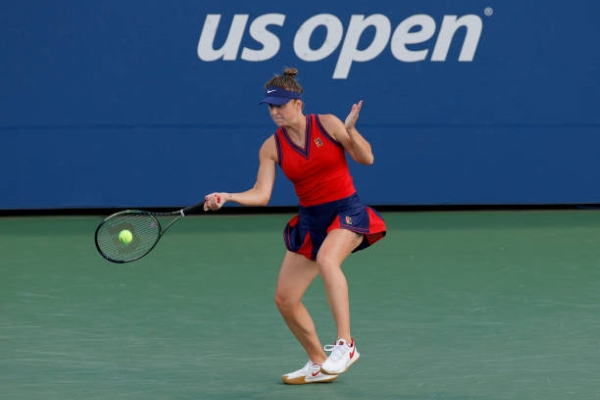 Elina Svitolina in action at the US Open.
