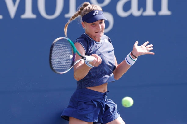 Dayana Yastremska in action ahead of the WTA Chicago Classic.