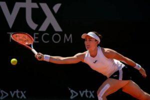 Tamara Zidansek in action ahead of the WTA Portoroz Open.