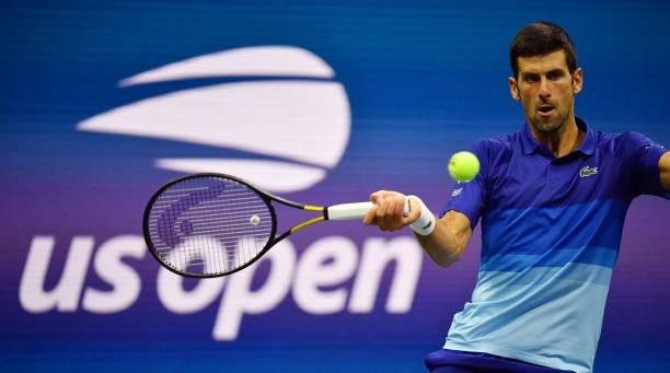 Novak Djokovic US Open 2021 forehand